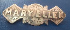 Rare-Victorian-Sterling-Silver-Name-Brooch-1900-Birmingham-MARY-ELLEN
