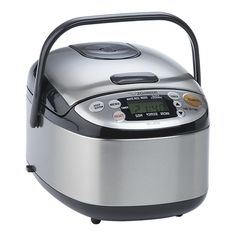 Awesome rice cooker with digital controls...There are settings for brown rice and sushi rice in addition to standard white.
