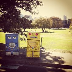 Robots enjoying a day in the park