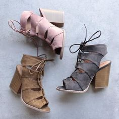 summer nights cut out laced up block heel sandals (more colors) - shophearts - 2