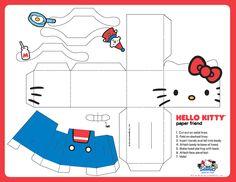 FREE printable Hello Kitty Paper Toy