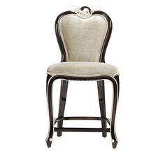 吧椅 进口实木框架+布艺软包 W500*D460*H1200 mm