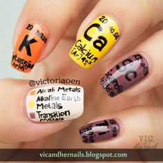 Vic and Her Nails: The Digital Dozen Does Metal - Day 3: Periodic Table