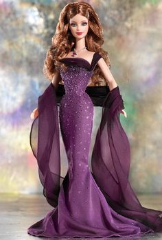 February Amethyst Barbie Doll - Special Occasion - 2003 The Birthstone Collection -  Barbie Collector