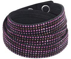 Slake Deluxe Max Black Bracelet - Swarovski