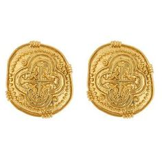 The Coin Earrings at www.Margaret-Simms.com