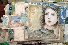 Mixed Media Art Journals | Beautiful mixed media books and journals . | Art Journaling