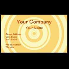 Professional orange circle business cards