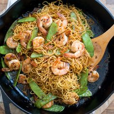 This quick and easy chow mein recipe is packed with healthy shrimp and vegetables.