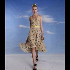 "Selling this ""Eva Franco hanky hem fit and flare Midi DRESS neon"" in my Poshmark closet! My username is: lastrainhome77. #shopmycloset #poshmark #fashion #shopping #style #forsale #Anthropologie #Dresses"