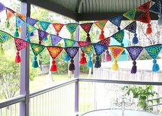 Crochet Triangle Garland! I love this...