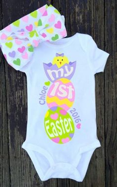 Trendy Ideas for baby first easter outfit etsy Baby Shirts, Onesies, Easter Outfit For Girls, Trendy Baby, Toddler Outfits, Baby Boy Shower, Baby Pictures, New Baby Products, Etsy