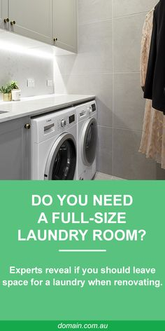 When working with a tight floorplan, it can be hard to justify a laundry taking up an entire room. Compact Laundry, Small Laundry Rooms, Laundry In Bathroom, Laundry In Kitchen, Apartment Kitchen, Apartment Living, Interior Design Living Room, Living Room Designs, Laundry Room Organization