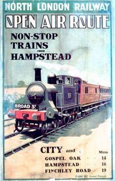 North London Railway poster, early C20