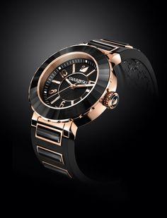 22585fe4102256 rose gold & black Swarovski Watches, Luxury Watches, Rolex Watches,  Android Watch