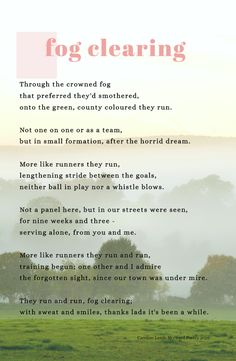 Poem written during pandemic. GAA teams volunteered delivering meds and food. Now returning to training. Well done! Thank you! #GAA #pandemic #poetry #carolinelamb #Ireland Soul Searching, My Poetry, A Team, Ireland, Poems, Training, Life, Food, Poetry