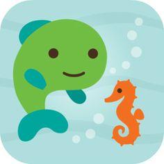 Mit dem kleinen Fisch Fin unter Wasser tauchen und mit zahlreichen Unterwasserwesen interagieren. Ganz entzückende Gratis-Kinderapp aus dem Hause Sago. #Sago #Kinderapp #Ocean #Fisch #iPad #iPhone #Gratis #App Sago Mini Ocean Swimmer | Apps für Kinder - myToys