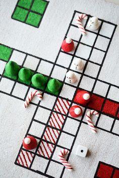 Christmas Parchisi DIY