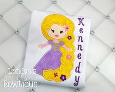 Rapunzel Inspired T Shirt/ Tangled Shirt Rapunzel inspired Iron On Patches, Get One, Rapunzel, Tangled, Lace Trim, Delicate, Messages, Embroidery, Stitch