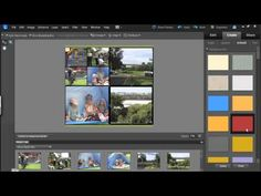 Create a Photo Collage in Photoshop Elements Photoshop Elements Tutorials, Adobe Photoshop Elements, Ps Tutorials, Photoshop Video, Photoshop Tutorial, Photography Templates, Photoshop Photography, Free Collage Templates, Photography Lessons