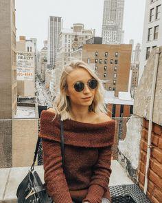 blonde hair , ray bans & nyc