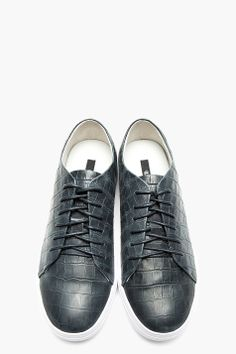 Tiger Of Sweden for Men Collection Tiger Of Sweden, Front Row, Slate, Crocs, Louis Vuitton, Grey, Men's Style, Sneakers, Leather