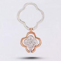 18K雙色金 心花怒放 一款多戴鑽石吊咀 1顆鑽石共0.075克拉 金重2.95克 BRP20076