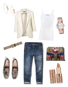 """""""Gucci"""" by allonasada on Polyvore featuring Gucci, Hollister Co., WithChic, Vince and tarte"""