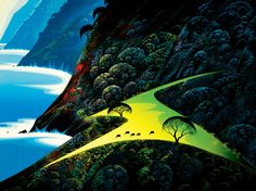 Disney legend Eyvind Earle (best known for his work on Sleeping Beauty) paints California's Big Sur.