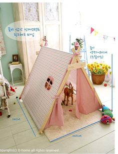 Free shipping Child Indian Tree wood Tent Teepee Outdoor Indoor Play House Gire Teepee Toy House Pincess Children's kids Tent