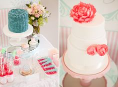 love the rock candy on a bed of jelly beans - color combos are so pretty, too!