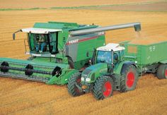 fendit combines | Fendt Combine & Tractor Greeting Card