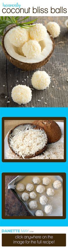 There's a reason I call these heavenly! This coconut bliss ball recipe is so easy and the taste is divine. Say goodbye to sweet cravings!