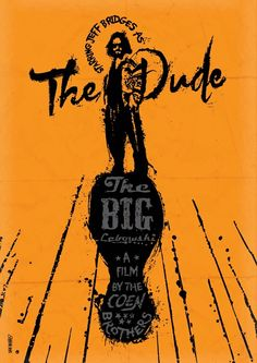 The Big Lebowski [1998] by artist Dan Norris -- Just saw this again the other day. The dude abides.