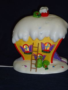 Department 56 Dr. Seuss The Grinch CINDY-LOU WHO'S light up HOUSE Christmas