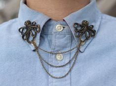 Want An Alternative To A Tie? How About An Unusual Collar Clip?  ... see more at InventorSpot.com