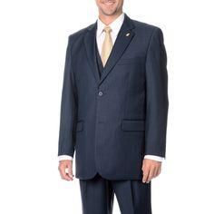 Falcone Men's 3-piece Vested Stylish Suit (-38R)