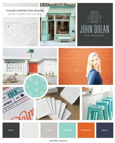 Bold orange, blue, and turquose moodboard Orange Color Schemes, Orange Color Palettes, Colour Pallette, Color Combos, Aqua Color, Bold Colors, Orange And Turquoise, Orange Grey, Teal Blue