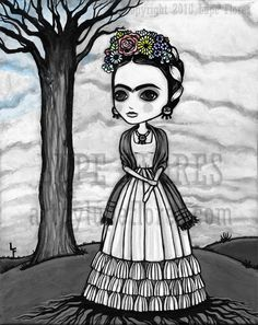 Frida Kahlo Roots beneath me 16x20 Original by ArtByLupeFlores, $25.99