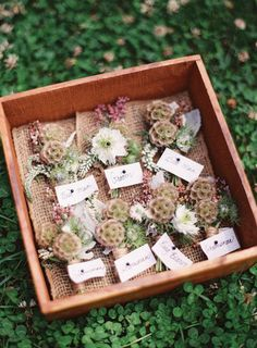 box of flowers  San Clemente Wedding at Casa Romantica from Desi Baytan Photography  Read more - http://www.stylemepretty.com/2012/08/20/san-clemente-wedding-at-casa-romantica-from-desi-baytan-photography/