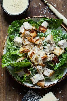Ida Gran Jansen Parmesan, Cobb Salad, Halloumi, Bacon, Ethnic Recipes, Food, Essen, Meals, Yemek