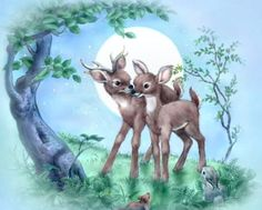 Penny Parker ♥ღ Cute Animal Illustration, Children's Book Illustration, Penny Parker, Baby Animals, Cute Animals, Deer Art, Gif Animé, Pet Birds, Cute Art