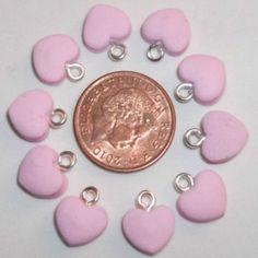 Handmade Pink Heart Charm