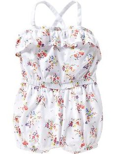 1dd1402ed0f2 Floral-Print Jersey Rompers for Baby from Old Navy (12mo-5t)  9.99