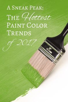 Sneak Peak At The Hottest 2017 Paint Color Trends | If you want to update a room in your home and need some inspiration for the color palette, take a look at the new paint color trends for 2017.
