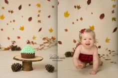 Fall inspired cake smash www.daniellesaraphotography.com