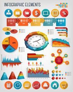 Infographics Business Elements Design Vector