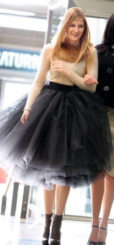 Latest Designs Woman 5 Layers Tulle Satin Skirt Knee Length Solid Natural Color Ball Gown Tutu Skirt Women Size S Color Beige The Dress, Dress Skirt, Satin Skirt, Moda Lolita, Looks Style, Mode Style, Passion For Fashion, Cute Outfits, Street Style