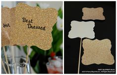 DIY Red Carpet  Party Voting Paddles | The Party Bluprints Blog #plantoparty #oscars