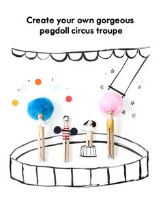 A Tutorial for a DIY Peg doll Circus Troupe Make Your Own Clay, Create Your Own, Fall Crafts For Kids, Kids Crafts, Kids Clay, Cool Kids Rooms, Diy Doll, Halloween Treats, Creative Crafts